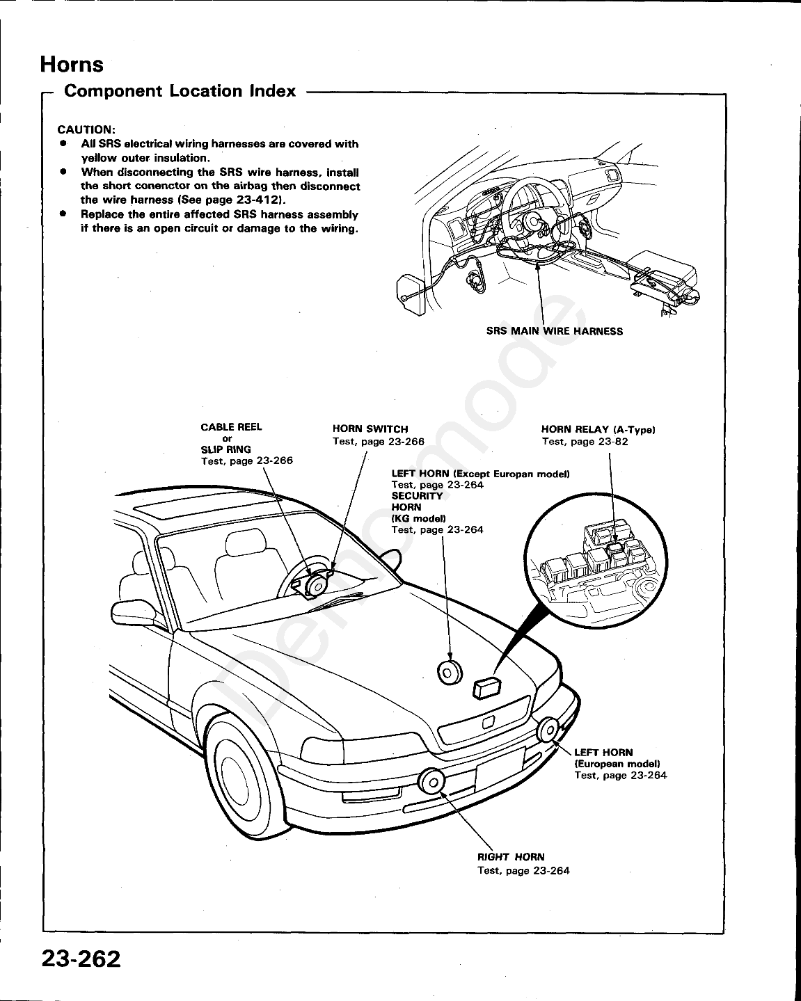 Acura Legend Online Service Manual Page 1195 Wiring Harness